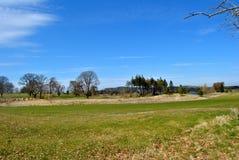 Ansicht über einen Golfplatz Lizenzfreie Stockfotografie