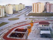 Ansicht über einen lebenden Bezirk. Stockfotos
