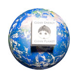 Ansicht über Erde - saubere Energie lizenzfreie abbildung