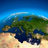 Ansicht über Europa von einer Höhe