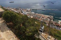 Ansicht über Gibraltar Lizenzfreies Stockbild