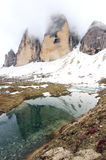 Ansicht über Gipfel der Alpen (Dolomit) Lizenzfreie Stockfotos