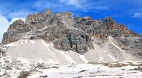 Ansicht über Gipfel der Alpen (dolomiten) Stockbild