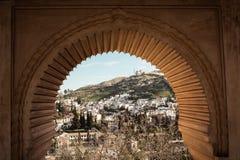 Ansicht über Granada von Alhambra Stockfoto