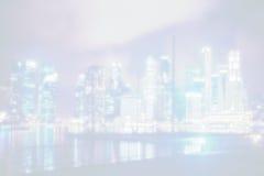 Ansicht über große asiatische Stadt, Metropole in der Nacht Lizenzfreies Stockbild