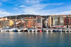 Ansicht über Hafen von Nizza, Frankreich Lizenzfreies Stockfoto