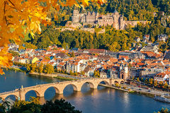 Ansicht über Heidelberg stockbilder