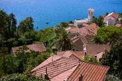 Ansicht über Herceg Novi Stockfotos