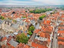 Ansicht über historische alte Stadt Brügges Lizenzfreie Stockbilder