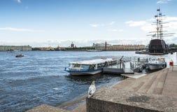 Ansicht über historische Mitte von Sankt Petersburg Stockbilder