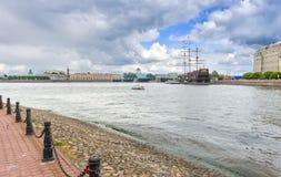 Ansicht über historische Mitte von Sankt Petersburg, Russland Stockbilder