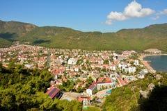 Ansicht über Icmeler-Vorort von Marmaris in der Türkei Stockfotos