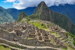 Ansicht über Inkaruinen Machu Picchu, Peru stockfotografie