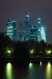 Ansicht über internationales Geschäftszentrum Moskaus Stockbild