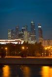 Ansicht über internationales Moskau-Stadt-Geschäftszentrum Stockfotografie