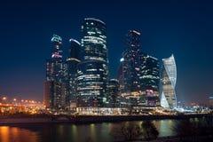 Ansicht über internationales Moskau-Stadt-Geschäftszentrum Lizenzfreie Stockfotografie