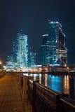 Ansicht über internationales Moskau-Stadt-Geschäftszentrum Stockbild