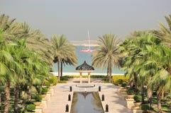 Ansicht über Jumeirah Palme Stockfotografie