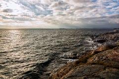Ansicht über Küste Lizenzfreies Stockbild