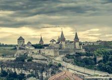 Ansicht über Kamenetz-Podolskyfestung Stockfotografie