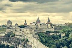 Ansicht über Kamenetz-Podolskyfestung Lizenzfreie Stockbilder