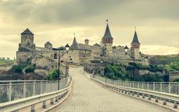 Ansicht über Kamenetz-Podolskyfestung Lizenzfreie Stockfotos