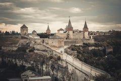 Ansicht über Kamenetz-Podolskyfestung Lizenzfreies Stockfoto