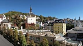 Ansicht über Karlovy Vary lizenzfreies stockfoto