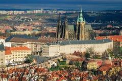 Ansicht über Kathedrale St. Vitus Stockfoto