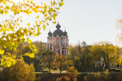 Ansicht über Kloster Stockbilder