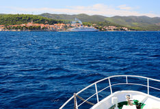 Ansicht über Korcula Insel Lizenzfreie Stockfotos