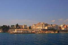 Ansicht über Korfu Griechenland Stockbild