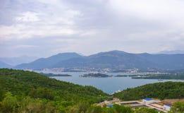 Ansicht über kotor Bucht Montenegro Lizenzfreie Stockfotos