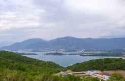 Ansicht über kotor Bucht Montenegro Lizenzfreie Stockfotografie