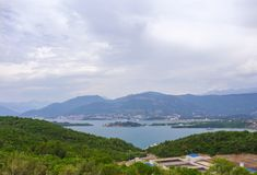 Ansicht über kotor Bucht Montenegro Stockbilder