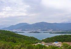 Ansicht über kotor Bucht Montenegro Lizenzfreies Stockfoto