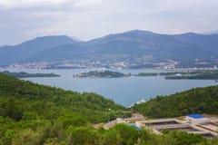 Ansicht über kotor Bucht Montenegro Stockfotografie