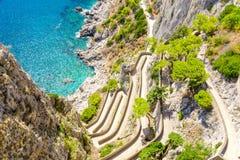 Ansicht an über Krupp auf Capri-Insel, Kampanien, Italien stockfoto