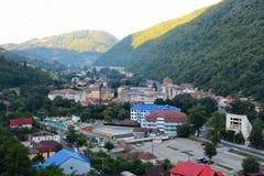 Ansicht über Kurort Baile Herculane, an am 1. September 2017, von Rumänien Stockfotos