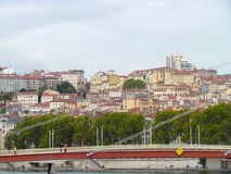 Ansicht über La Croix Rousse Lyon Lizenzfreie Stockfotos