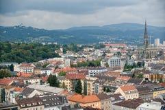 Ansicht über Linz Stockfotografie