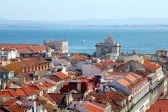 Ansicht über Lissabon Stockfotografie