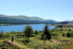 Ansicht über Loch Doon, Carrick, Ayrshire-Rind, Schottland Stockbilder