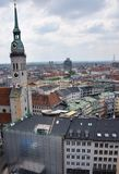 Ansicht über München lizenzfreies stockfoto