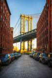 Ansicht über Manhattan-Brücke Stockfotografie