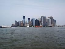 Ansicht über Manhattan vom Hudson-Fluss Lizenzfreies Stockfoto