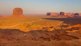 Ansicht über Merrick Butte im Monument-Tal, Arizona Lizenzfreie Stockfotografie