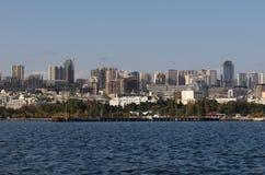 Ansicht über Mitte von Baku Lizenzfreie Stockfotos