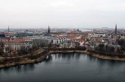 Ansicht über Mitte von Kopenhagen Stockfotos