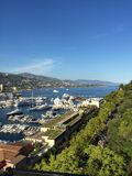 Ansicht über Monaco-Jachthafen Lizenzfreie Stockfotos